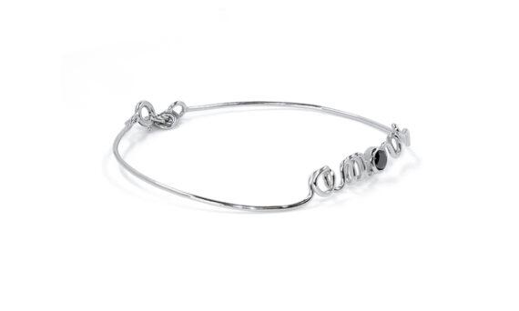 By Elia Amour bracelet mounted on 18k white gold with black diamond