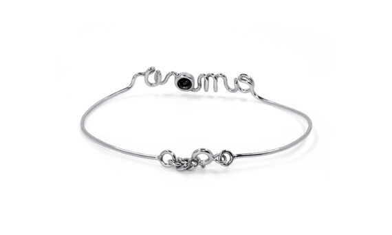 By Elia Amour bracelet mounted on white gold with a black diamond