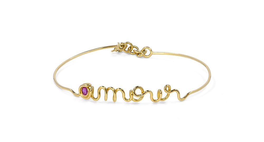 Amour yellow gold bracelet