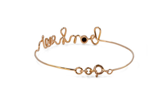 By Elia Bonheur bracelet mounted on rose gold with one black diamond