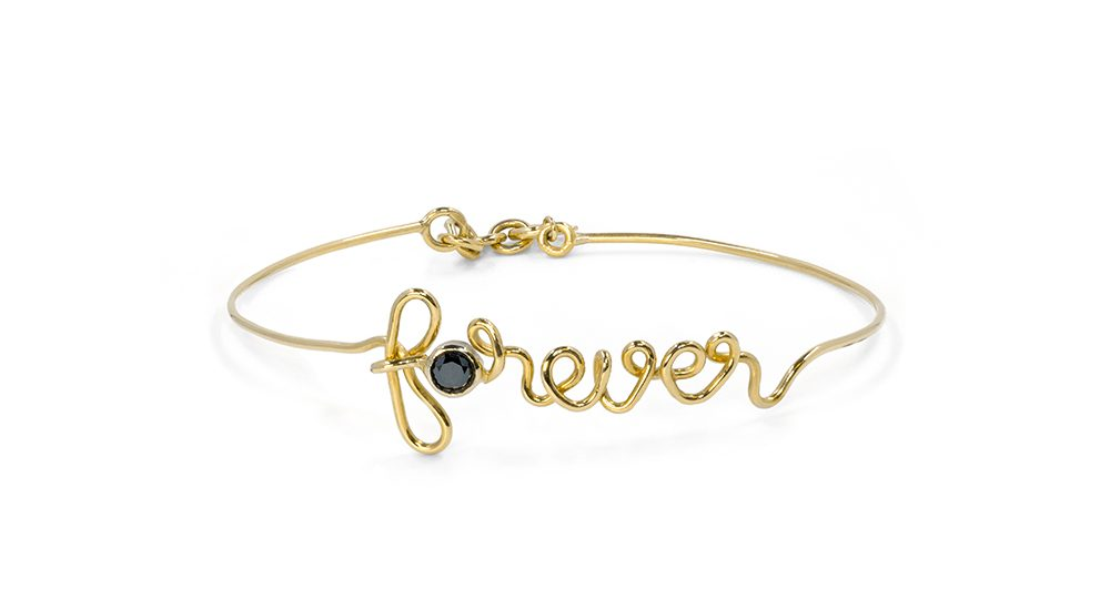 Forever yellow gold bracelet