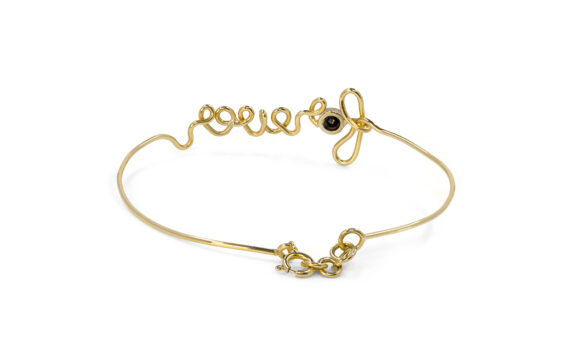 By Elia Forever bracelet mounted on 18ct yellow gold with black diamond