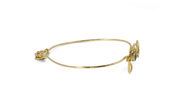 By Elia Forever bracelet mounted on 18k yellow gold with one black diamond