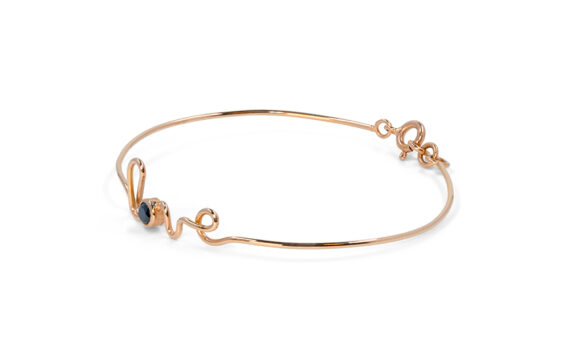 By Elia Love bracelet mounted on 18ct rose gold with a black diamond