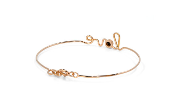 By Elia Love bracelet mounted on rose gold with one black diamond