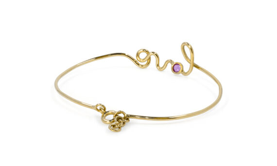 By Elia Love bracelet mounted on yellow gold with ruby