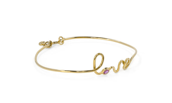 By Elia Love bracelet mounted on 18ct yellow gold with a ruby