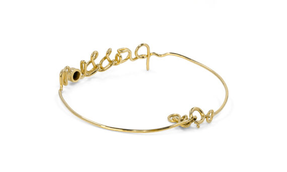 By Elia Passion bracelet mounted on 18ct yellow gold with one black diamond