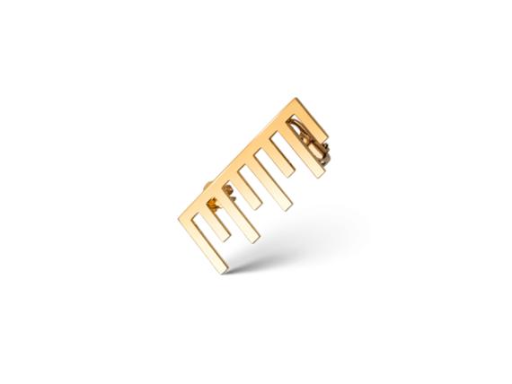 Claudia Oddi Gold earring mounted on yellow gold