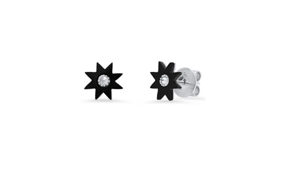 Colette Jewelry 18KT White Gold Black Onyx Studs