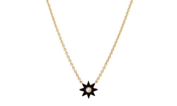 Colette Jewelry 18KT Yellow gold Black Onyx Star Necklace