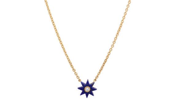 Colette Jewelry Star necklace or jaune 18ct lapis lazuli