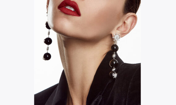 Colette Jewelry Star Ball Long earrings