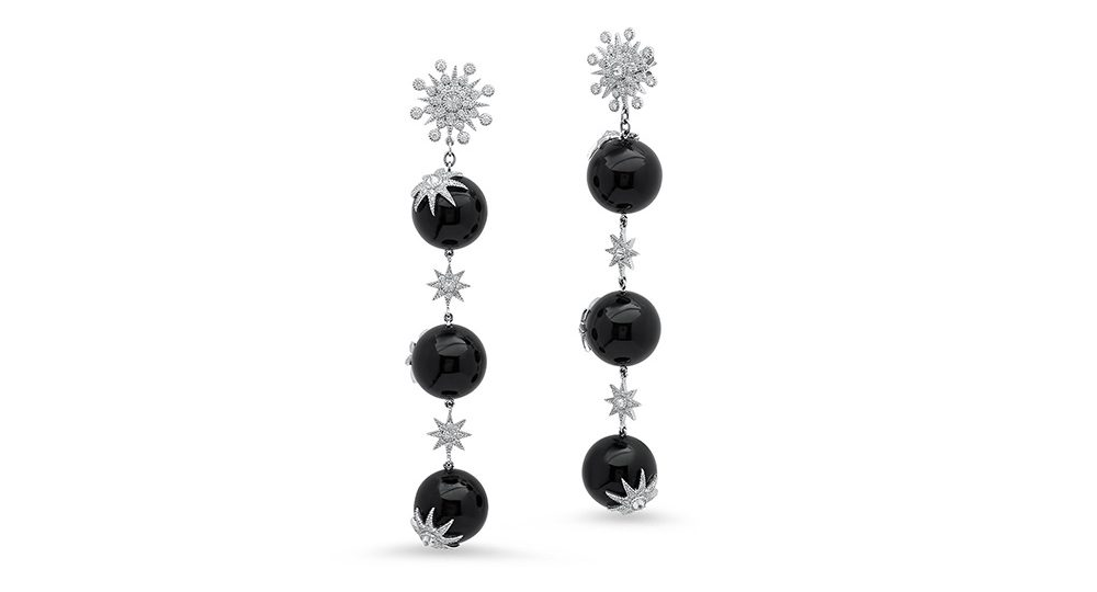 Star Ball Long Earrings
