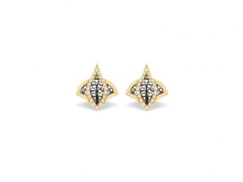 Couture yellow gold filigree studs