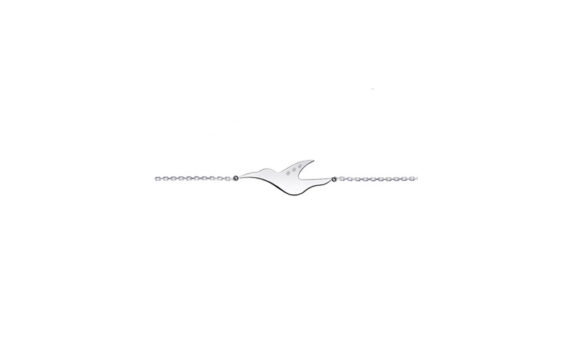 Enora Antoine L'envol diamond bracelet mounted on 18ct white gold