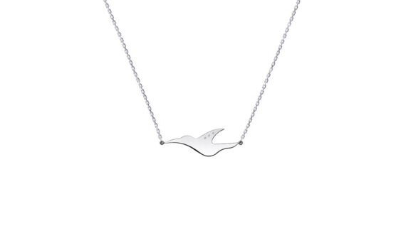 Enora Antoine L'envol diamond necklace mounted on 18ct white gold with diamonds