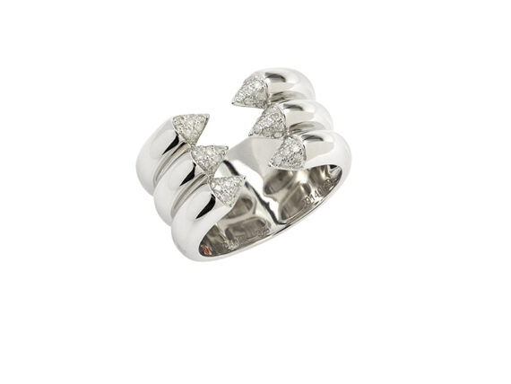 Gaydamak - Ring mounted on white gold with diamonds