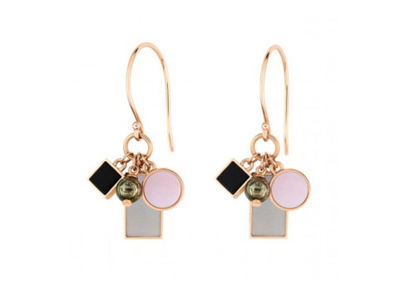 Ginette NY - Ever frost charm earrings mounted on rose gold