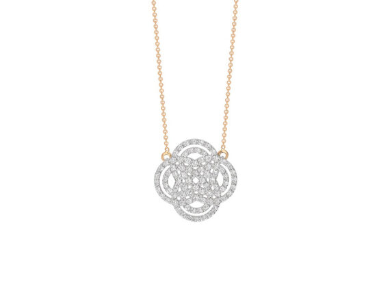 Ginette NY - Baby Diamond purity necklace in rose gold and diamonds