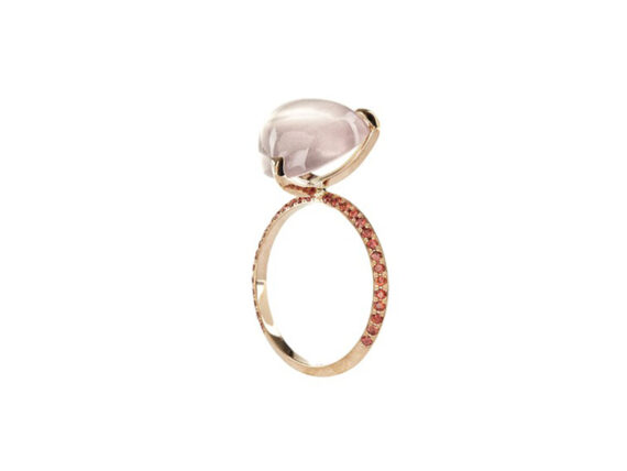 Lito Ring from treasure collection mounted on rose gold
