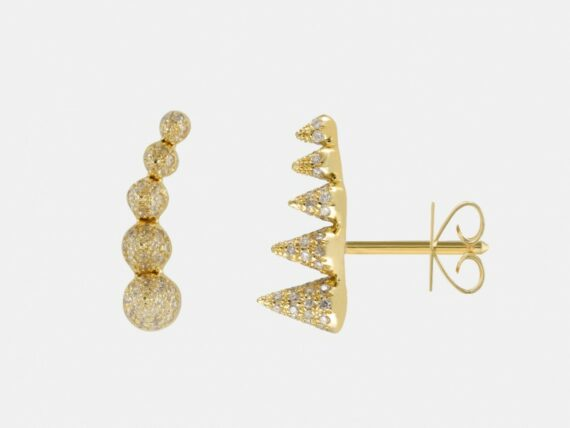 Noor Fares - Five Cone Stud Earrings - Geometry 101 Collection
