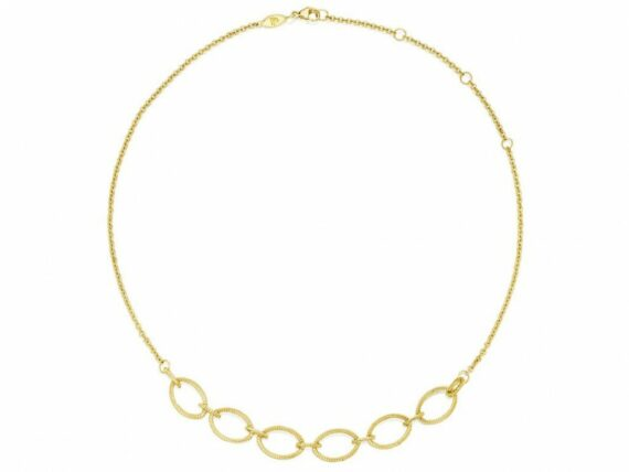 Penny Preville Oval link choker necklace mounted on gold ~ USD$ 1'895