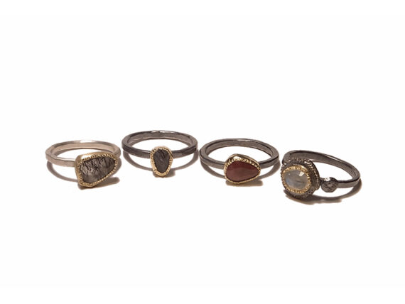 Rusty Thought Adore Handmade Gem Rings