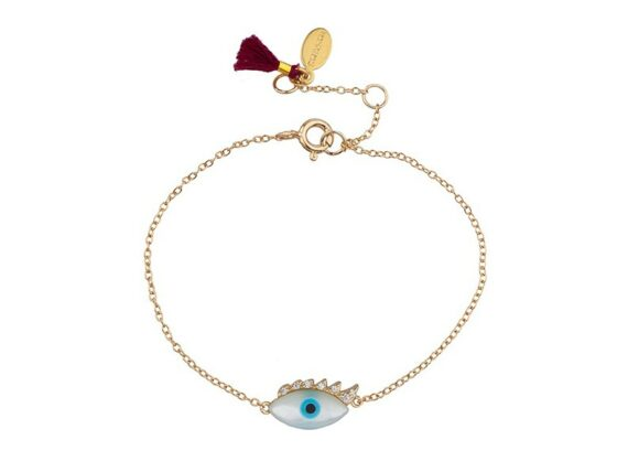 Shashi Lilian bracelet mounted on gold plated sterling silver with zirconia ~ USD$ 54