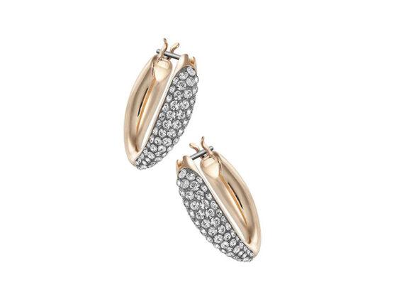 Swarovski Circlet small hoop pierced earrings