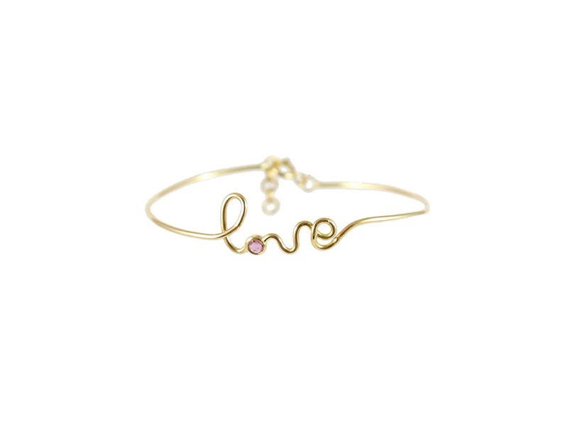 By Elia Love bracelet on 18ct yellow gold with ruby