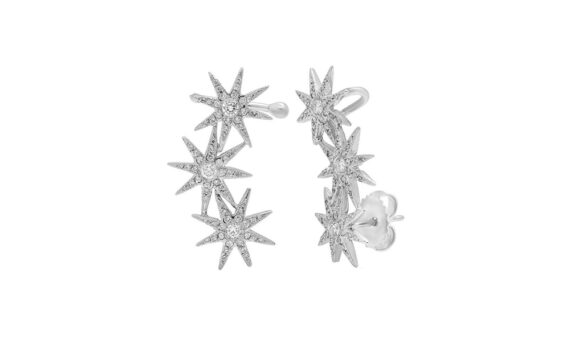 Colette Jewelry Orion Earring cuffs mounted on white gold with diamonds