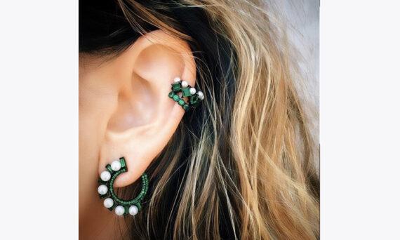 Colette Jewelry Swirl Huggie Hoops