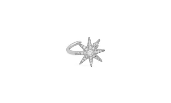 Colette Jewelry Twinkle Earcuff mounted on white gold with diamonds