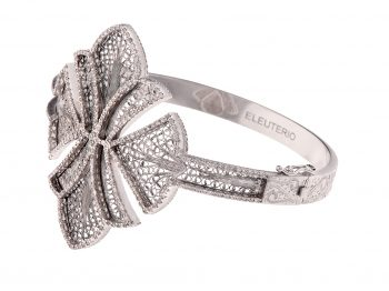 The ELEUTERIO White Gold Filigree Bracelet : most jeweled and must have!