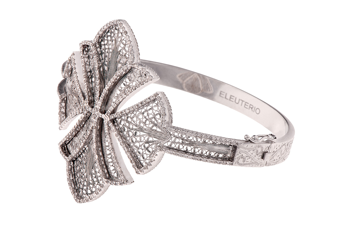 Eleuterio Couture bracelet on 18ct white gold