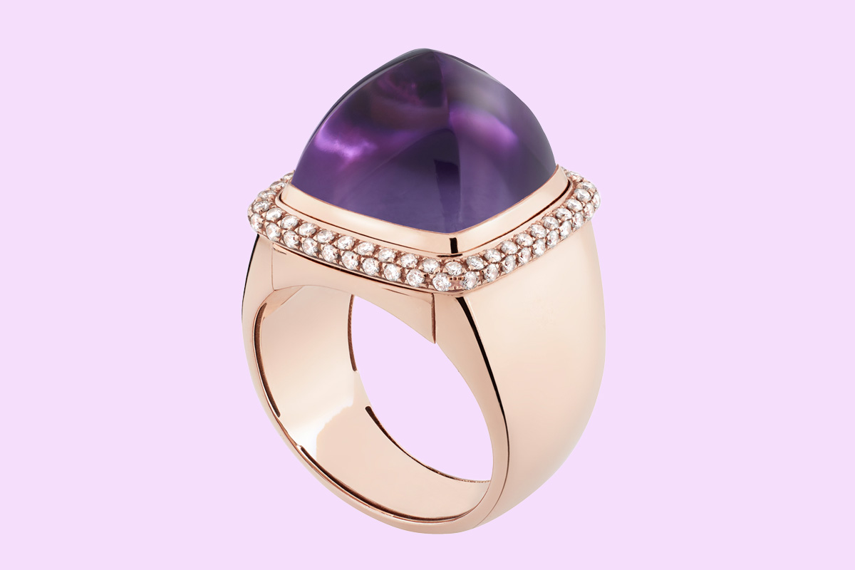 Fred Amethyst Pain Au Sucre Ring
