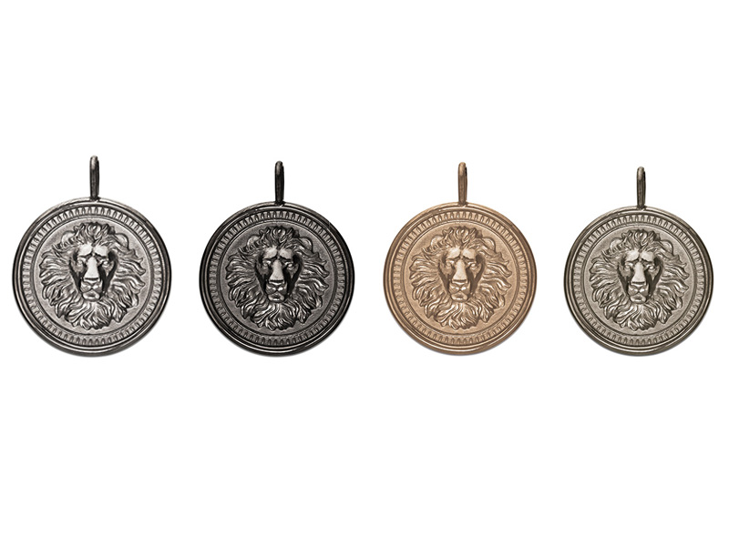 Nana Fink Loewenkind Pendants available on silver, black rhodium, rose gold and white gold
