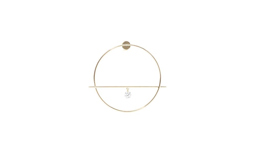 Shop Fibule one diamond earrings by Persée Paris - theeyeofjewelry.com d1b67935c