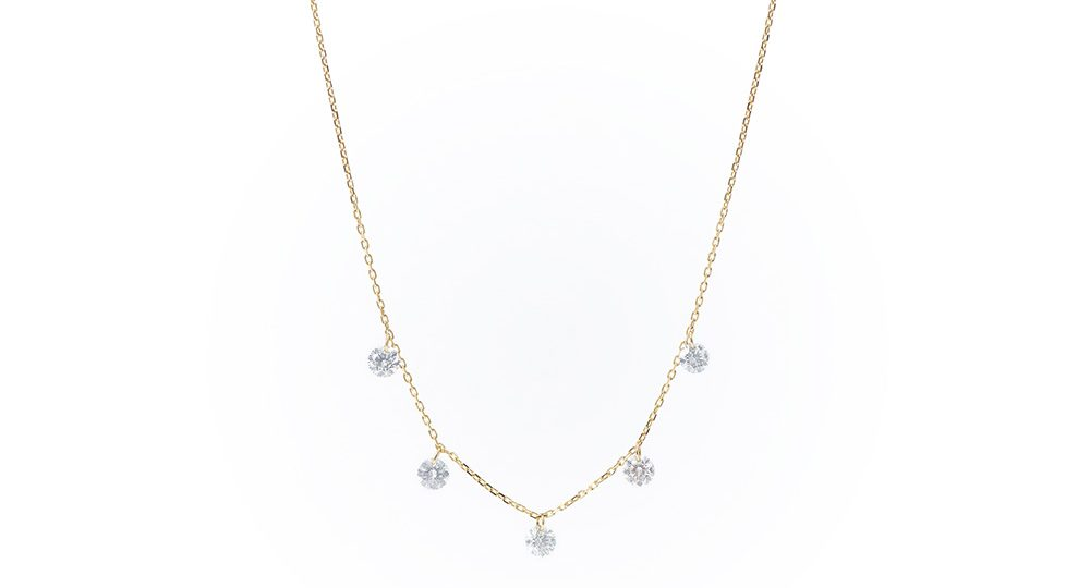 Danaé five diamonds necklace