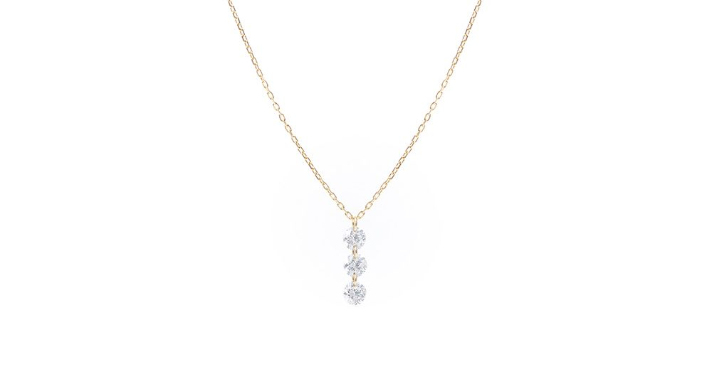 Danaé three diamonds necklace