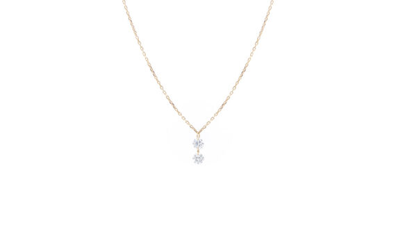Danaé two diamonds necklace