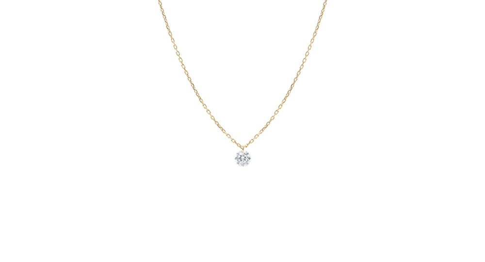 Danaé one diamond necklace
