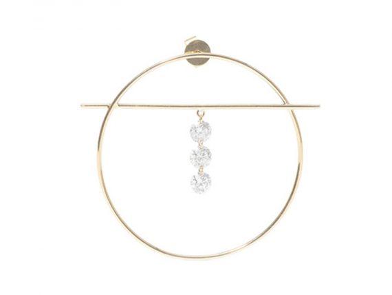 Persée Paris - Boucle d'oreille Fibule en or jaune et diamants