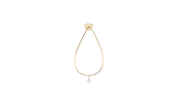 Persée Paris Géométrique drop earrings mounted on 18ct yellow gold with one diamond