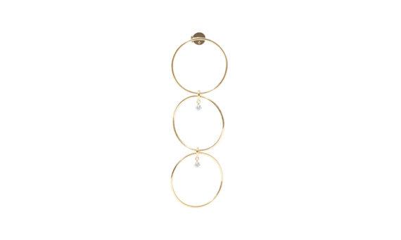 Persée Paris Boucles d'oreilles pendantes Géométrique deux diamants