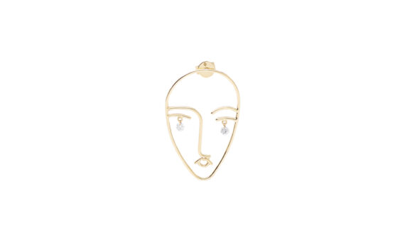 Persée Paris Mama earrings mounted on 18ct yellow gold