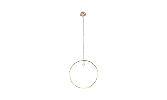 Pendule one diamond earrings