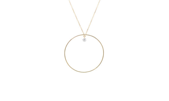 Persée Paris Séléné necklace mounted on 18ct yellow gold with one diamond