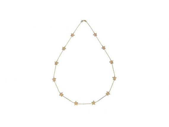 Spallanzani Jewelry Stella Chain Necklace set with white sapphires